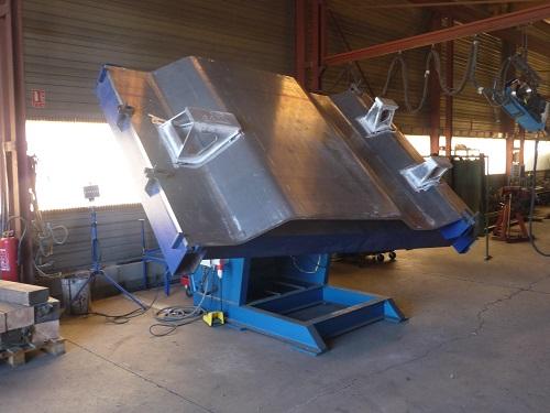 Pièce chaudronnerie armement aluminium